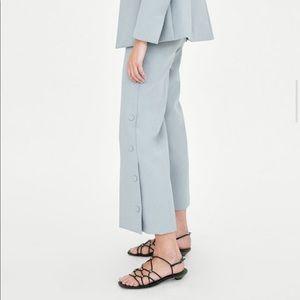 NWOT: Zara Blue Trousers Size XS